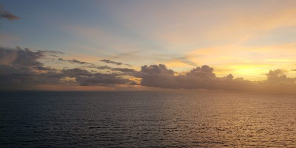Sunset over ocean 2018